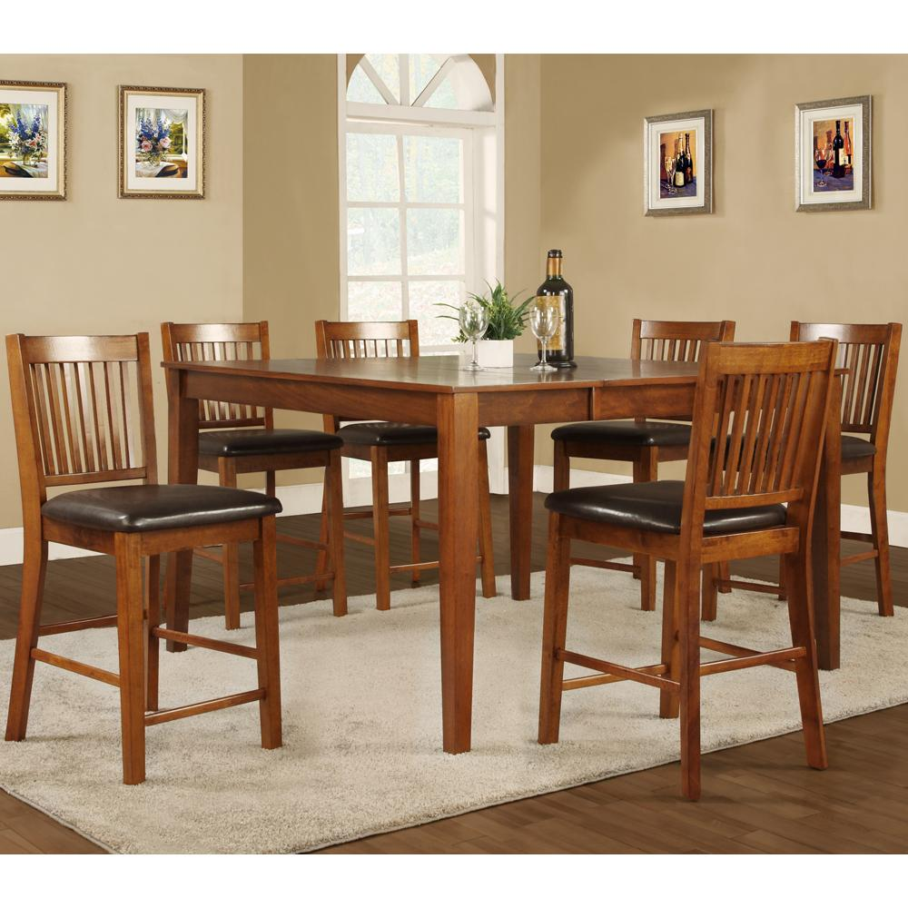 Furniture dining room furniture 7 piece mission style 7 piece - Mission style dining room furniture ...