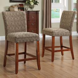 ETHAN HOME Carlisle Cherry 24-inch Counter Height Chairs (Set of 2)