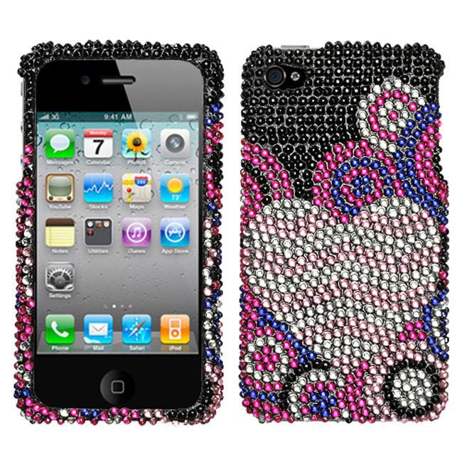 Premium Apple iPhone 4 Bubble Hearts Rhinestone Case
