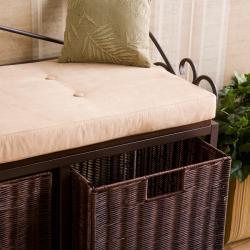 Luna Espresso Basket Storage Bench