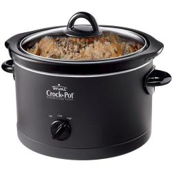 Crock Pot SCR400-B 4-Qt Black Round Slow Cooker