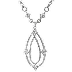 Sterling Silver 1/4ct TDW Diamond Drop Necklace (K-L, I2-I3)