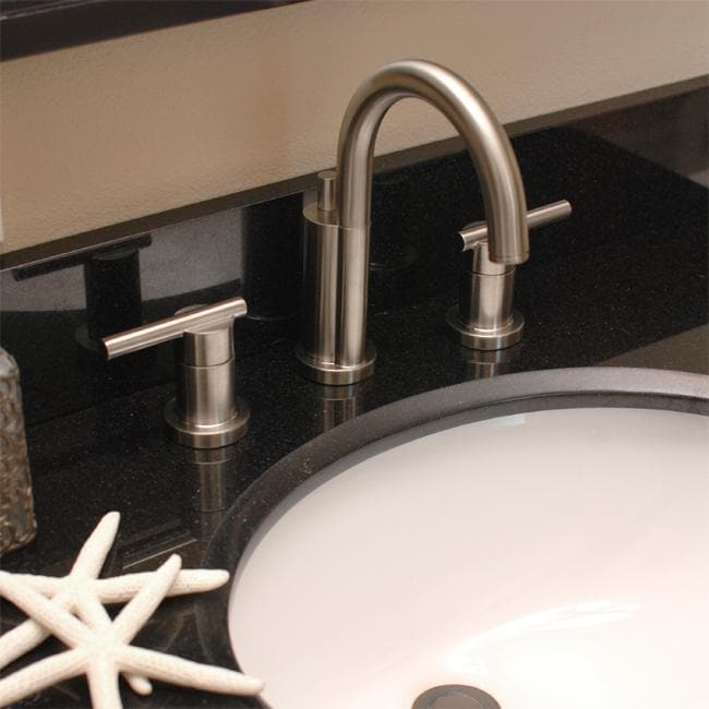 Fontaine delfino 8 inch widespread brushed nickel bathroom - 8 inch brushed nickel bathroom faucet ...
