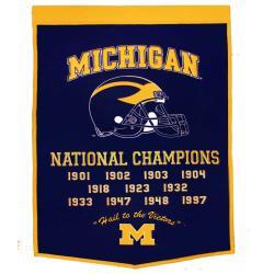 Michigan Wolverines NCAA Football Dynasty Banner