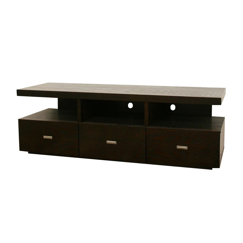 Nardo Dark Brown Wood Modern TV Stand