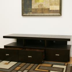 Nardo Dark Brown Wood Modern TV Stand