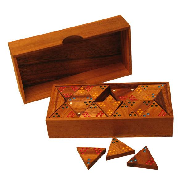 Wood Tri-dominoes Game (Thailand)