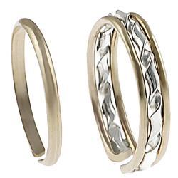 Goldfill 2-piece Toe Ring Set