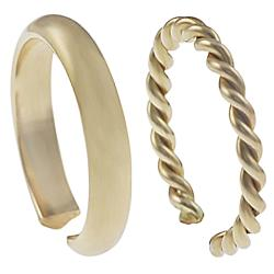 Goldfill Two-piece Toe Ring Set