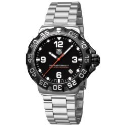 Tag Heuer Men's 'Formula 1' Stainless Steel Black Dial Watch