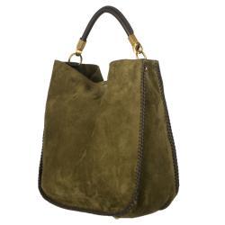 Yves Saint Laurent Green Suede Hobo Bag - 13328504 - Overstock.com ...