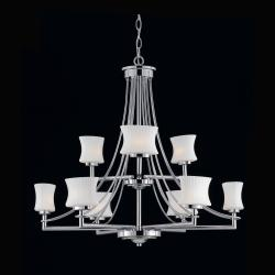 Astro 9-light Chrome Chandelier
