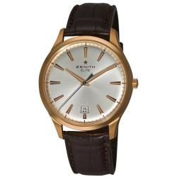 Zenith Men's 'Elite Captain Central Second' Rose Gold Watch