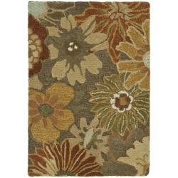 Handmade Soho Gardens Brown/ Multi New Zealand Wool Rug (2' x 3')