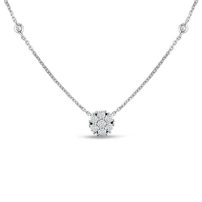 14k White Gold 1/3ct TDW Diamond Necklace (G-H, SI1-SI2)