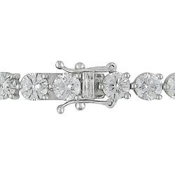Miadora 18k White Gold 13 7/8ct TDW Diamond Tennis Bracelet (G-H, I1-I2)