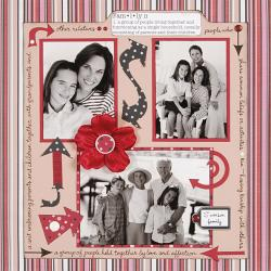 Personal Shopper April 2009 Dots & Stripes Scrapbooking Set