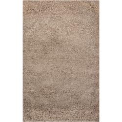 Handmade Nirmal Brown Shag Rug (5' x 7'6)