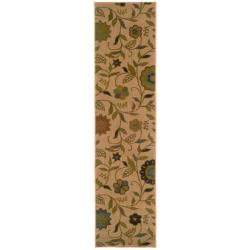 Indoor Gold Floral Rug (1'10 x 7'6)