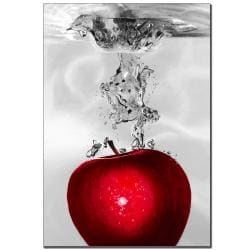 Roderick Stevens 'Red Apple Splash' Canvas Art