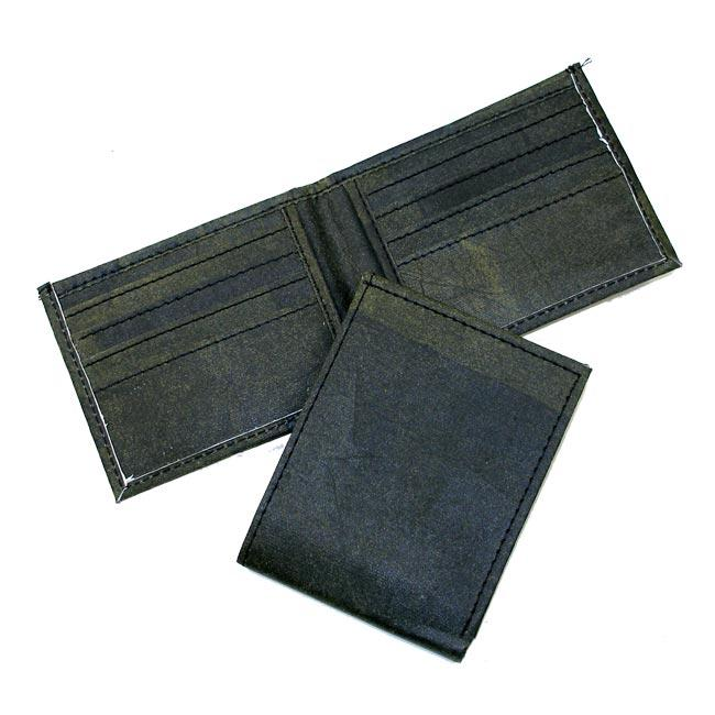 Recycled Plastic Black Aamir Bi-fold Wallet (India)
