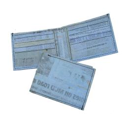 Recycled Plastic Blue Aamir Bi-fold Wallet (India)