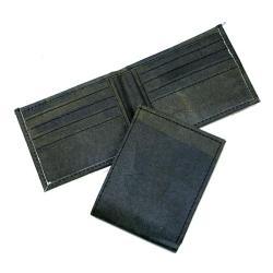Recycled Plastic Black Aamir Bi-fold Wallet (India)