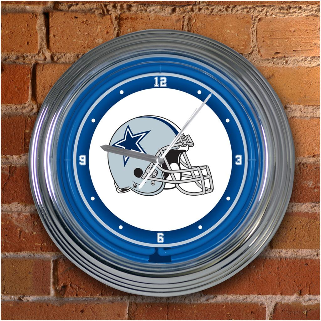Dallas Cowboys 15-inch Neon Clock