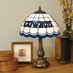 Tiffany-style Dallas Cowboys Lamp