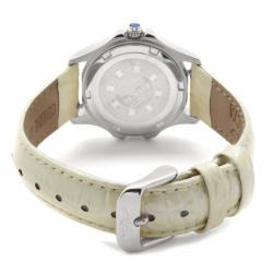 Invicta Women's 'Wildflower' Shiny Beige Leather White Crystal Watch
