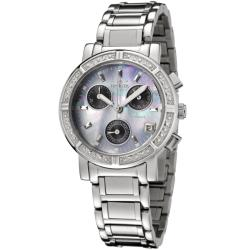 Invicta Women's 'Wildflower' Stainless Steel Chronograph Diamond Watch