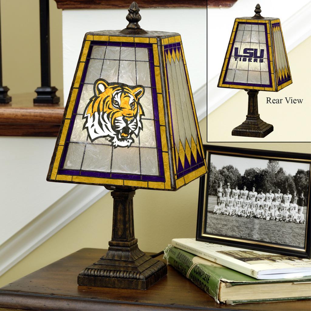 LSU Tigers 14-inch Art Glass Lamp
