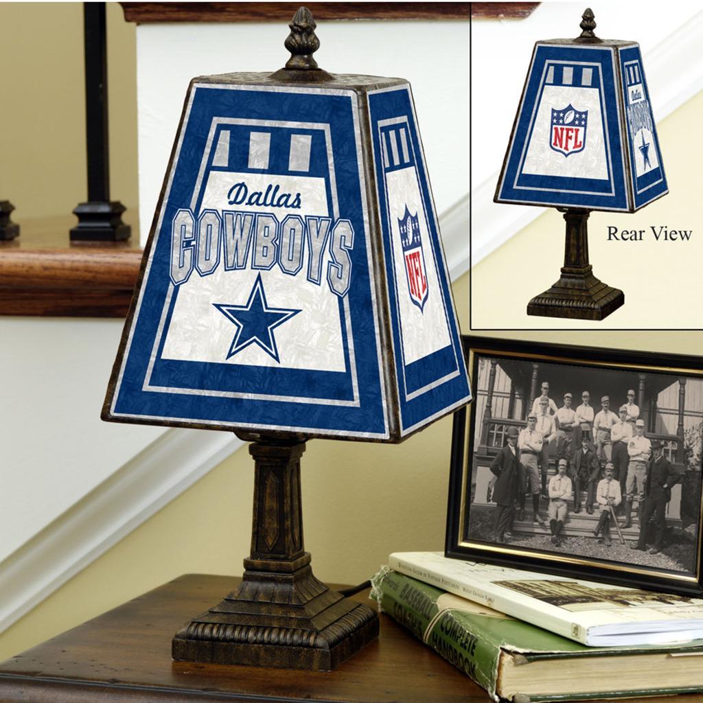 Dallas Cowboys 14 inch Art Glass Lamp