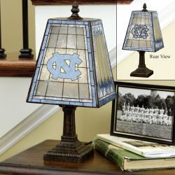 North Carolina Tar Heels 14-inch Art Glass Lamp