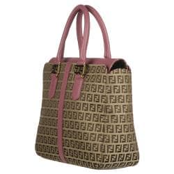 Fendi Brown Zucchino Tote Bag