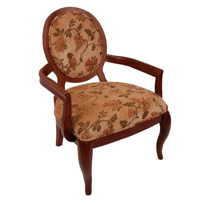 Elliot Beige/ Cherry Arm Chair