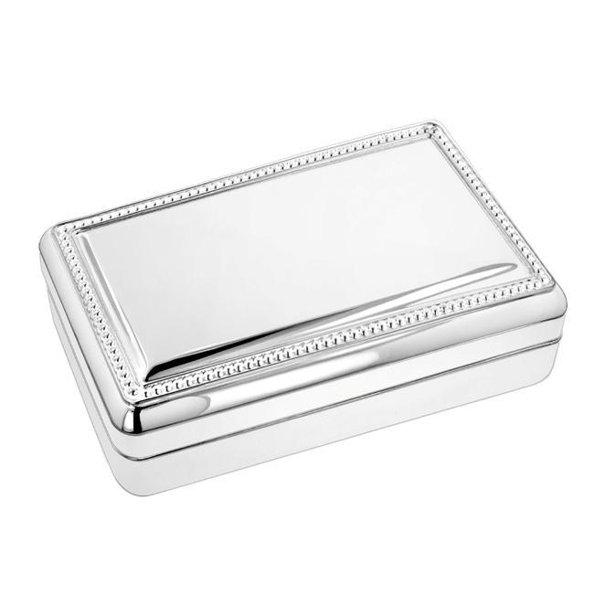Silver Mirror Jewelry Box