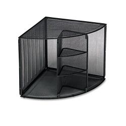 Rolodex Mesh Corner Desktop Shelf