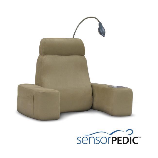 Sensorpedic Memory Foam Massaging Back Rest with Reading Light