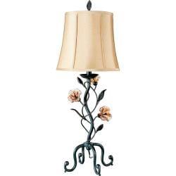 Amber Mist Blacksmith Bronze Table Lamp