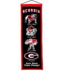 Georgia Bulldogs Wool Heritage Banner