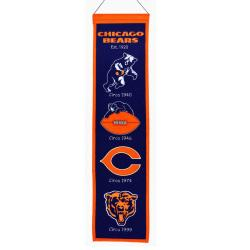 Chicago Bears Wool Heritage Banner