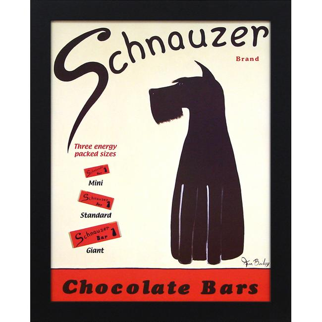 Ken Bailey 'Schnauzer Bars' Framed Wall Art