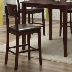 Espresso 5-piece Wood Pub Table Set