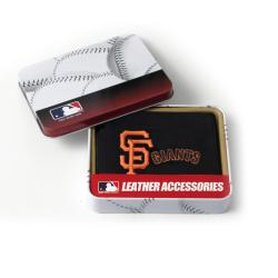 San Francisco Giants Men's Black Leather Tri-fold Wallet