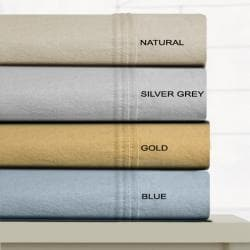 Tribeca Living Luxury Solid Flannel Extra Deep Pocket Twin-size Sheet Set