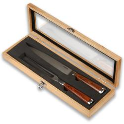Laguiole Select Polished Hardwood 2-piece Carving Set
