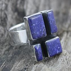 Sterling Silver Cobbled Sodalite Ring (Mexico)