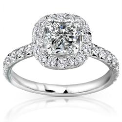 14k White Gold 1 2/5ct TDW Diamond Engagement Ring (H-I, I1-I2)