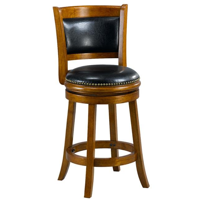 Alexis Dark Oak Padded Back 24-inch Counter Stool